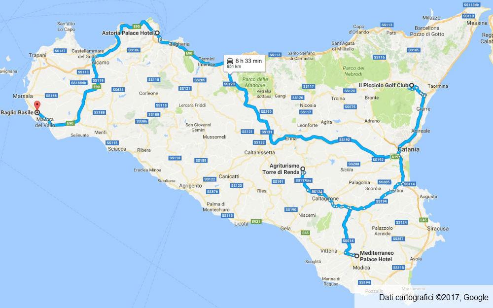 Sicilia - Piazza Armerina - Ragusa - Castiglione di Sicilia - Palermo - Petrosino